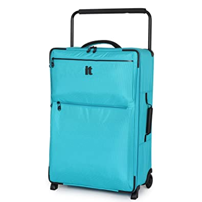 IT Luggage Worlds Lightest Turquoise Blue Large Lightweight 73.5cm ...
