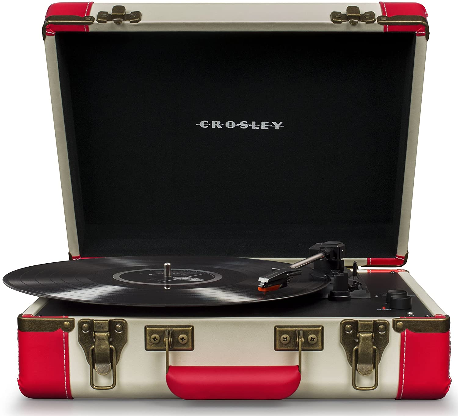 Crosley CR6019D-RE Executive Portable USB Turntable with Bluetooth