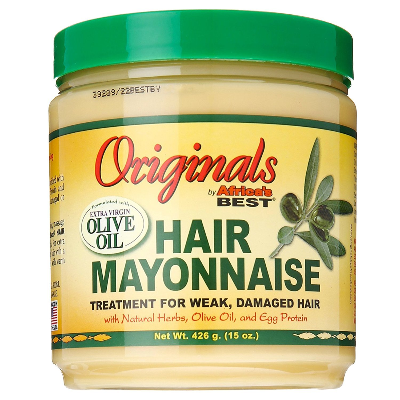 Africas Best Orig Hair Mayonnaise 15 Ounce Jar (443ml) Organic Root Stimulator AB20218B