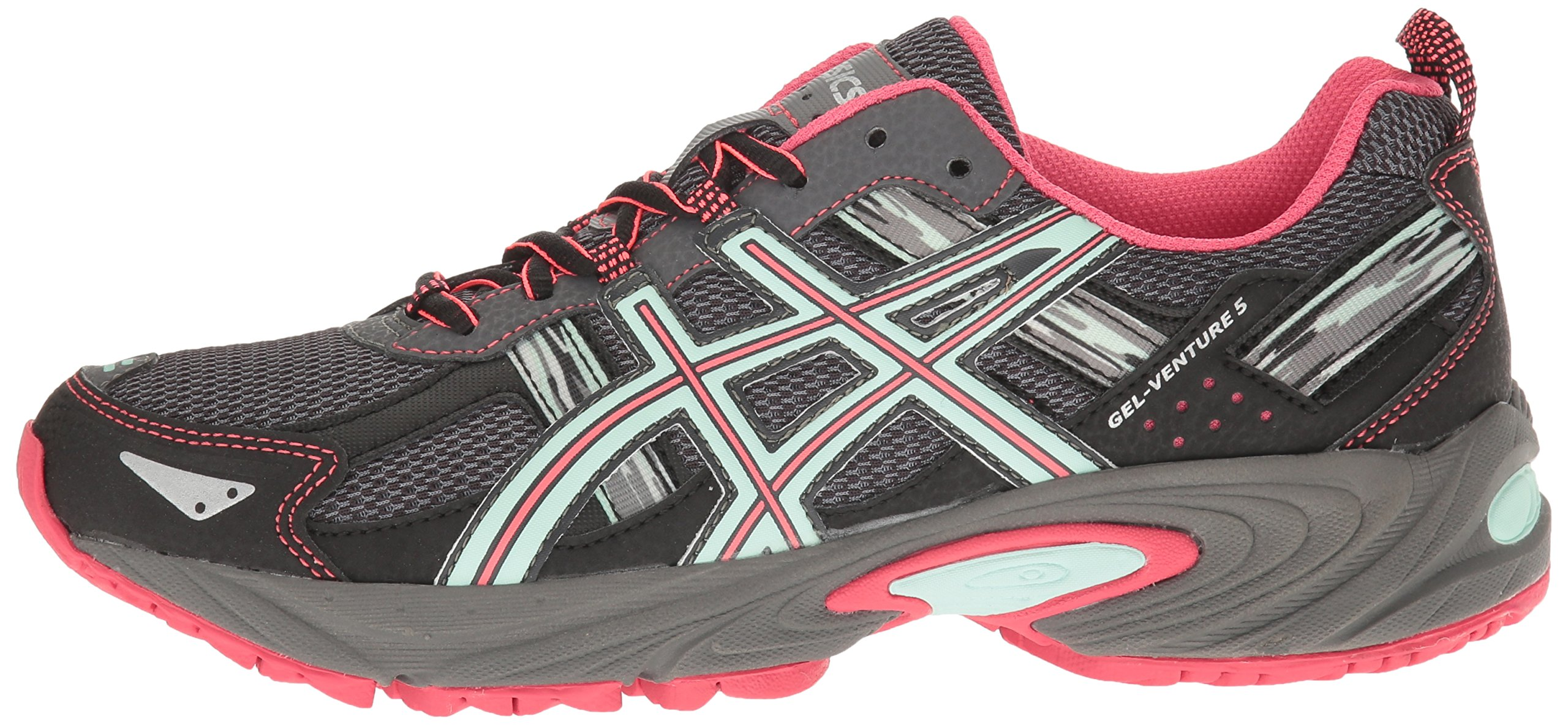 ASICS Women's Gel-Venture 5 Trail Runner, Carbon/Diva Pink/Bay, 9 M US by ASICS (Image #5)