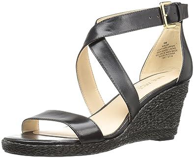 1d7c86b63e6 Nine West Women's Jay Leather Wedge Sandal