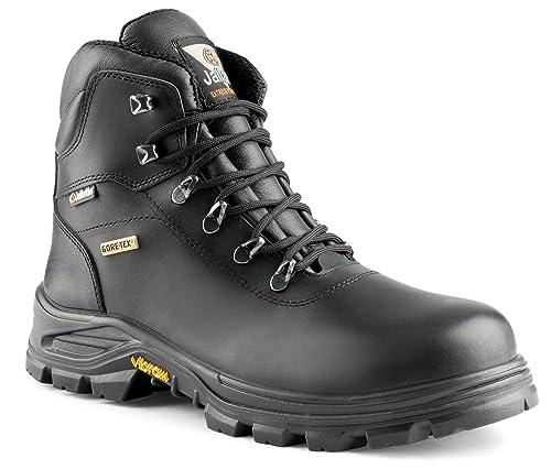 b1ec6011d Jallatte Jalterre S3 Black Leather Safety S3 Lace up Gore-Tex Vibram Mens  Boots  Amazon.co.uk  Shoes   Bags