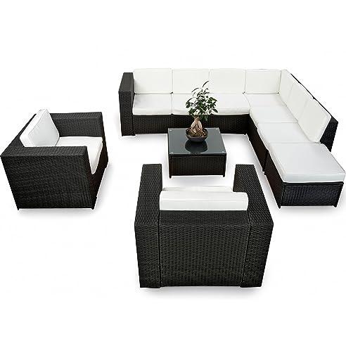 Amazon.De: Xinro Xxxl 25Tlg. Polyrattan Gartenmöbel Lounge Möbel