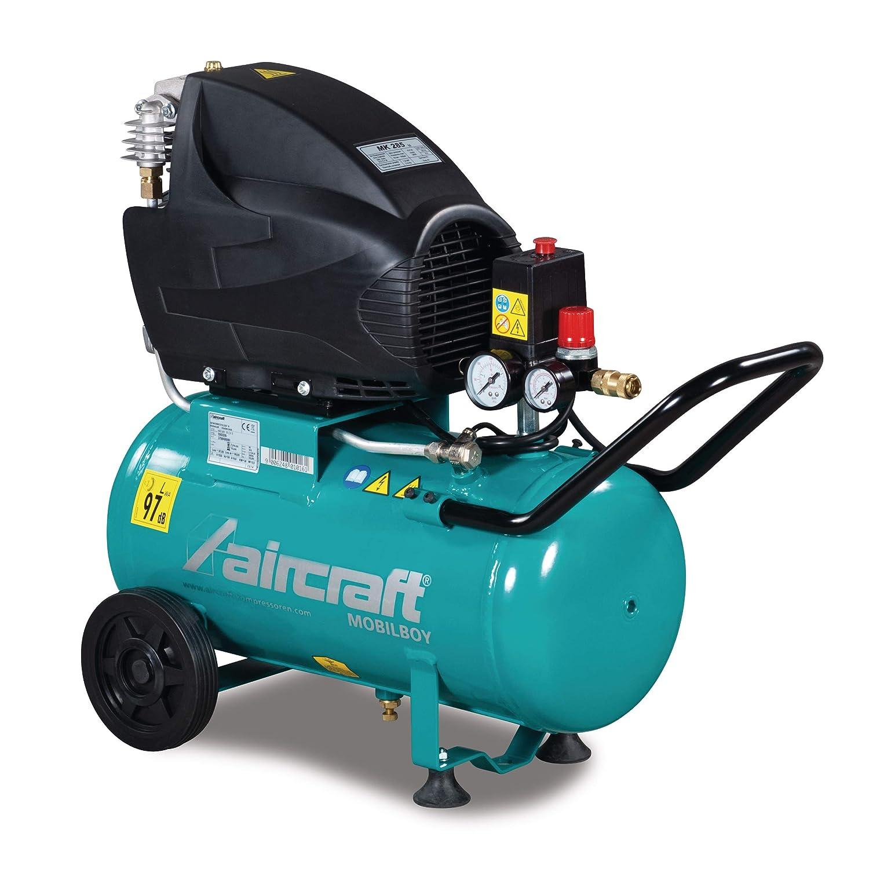 Compresor de pistón Stürmer Airkraft 2003326 MOBILBOY 301/24 E (presión 10 bar, móvil, contenido del recipiente 24 litros): Amazon.es: Bricolaje y ...