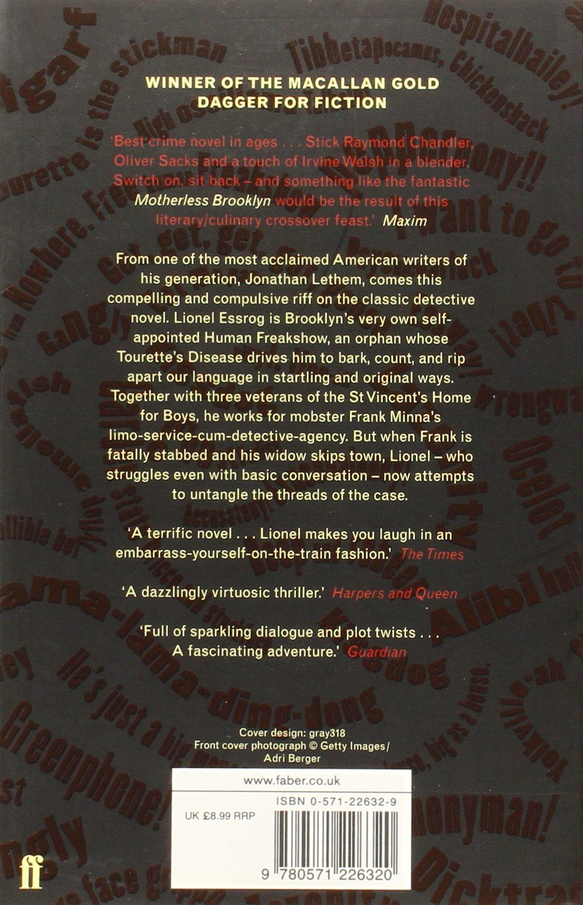 Motherless Brooklyn: Amazon: Jonathan Lethem: 9780571226320: Books