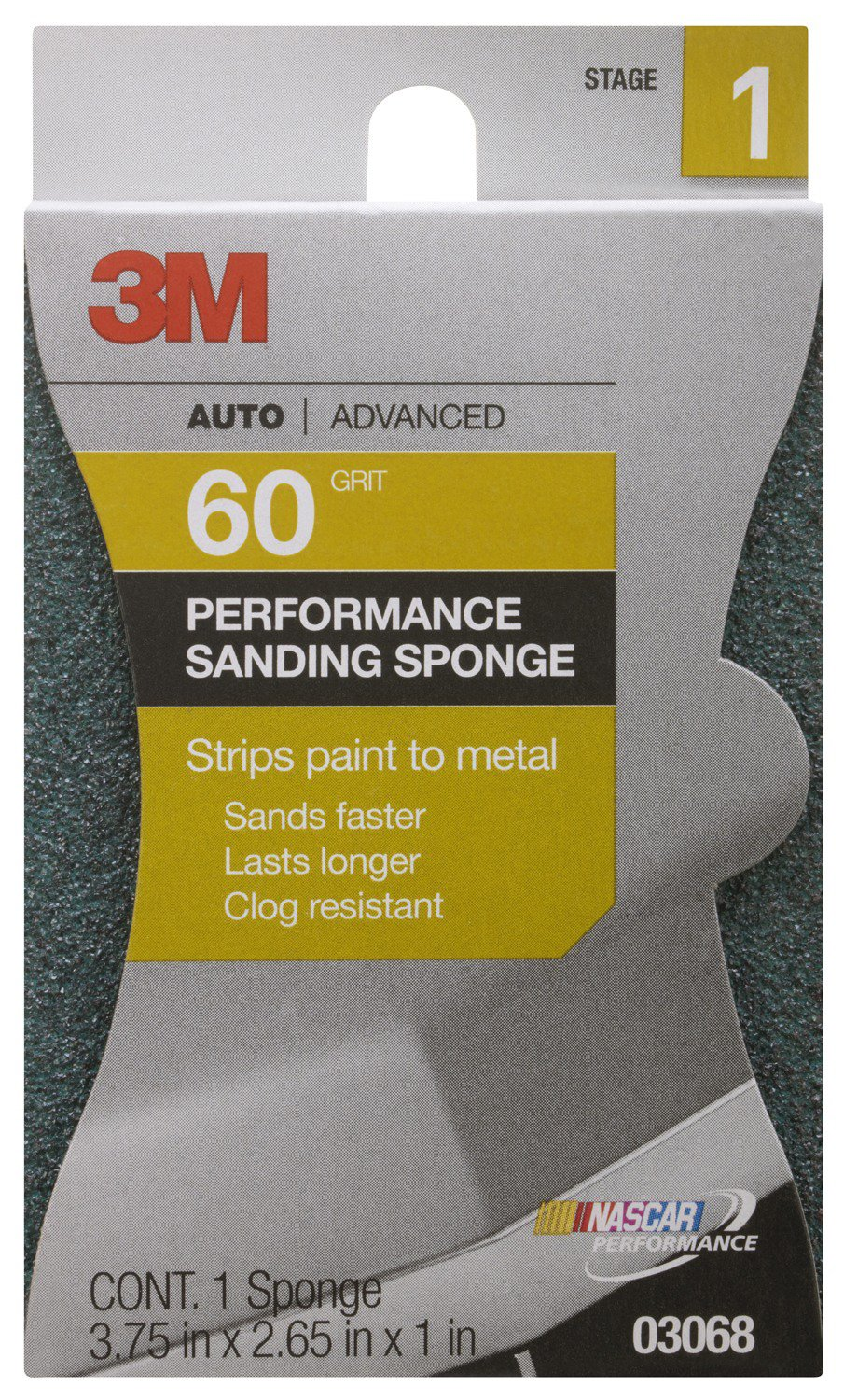 3M 03068 Premium Coarse Automotive Sponge (Pack of 12)