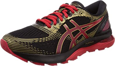 Asics Gel-Nimbus 21, Zapatillas de Running para Hombre, Negro (Black/Classic Red 001), 40 EU: Amazon.es: Zapatos y complementos
