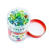 Kiddie Play 200 Glass Marbles for Kids Bulk