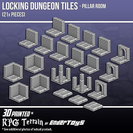 amazon com locking dungeon tiles pillar room terrain scenery