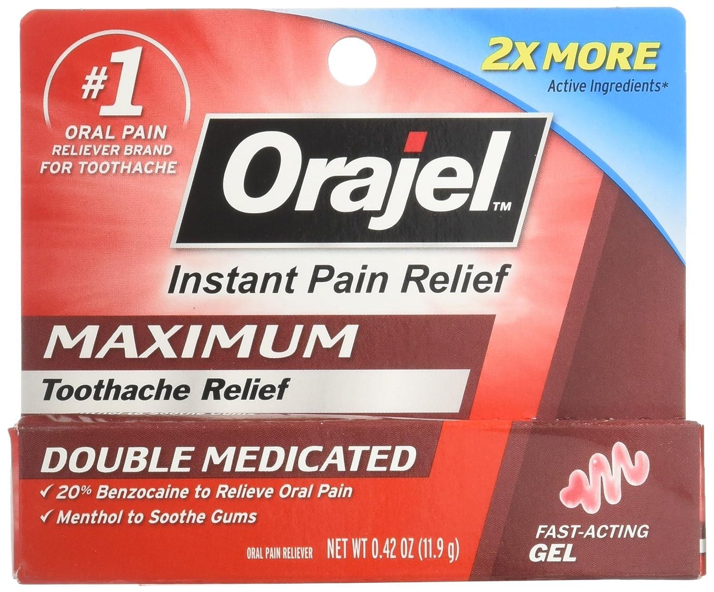 Orajel Maximum Strength Gel Oral Pain Reliever, 0.42 Oz 310310283131