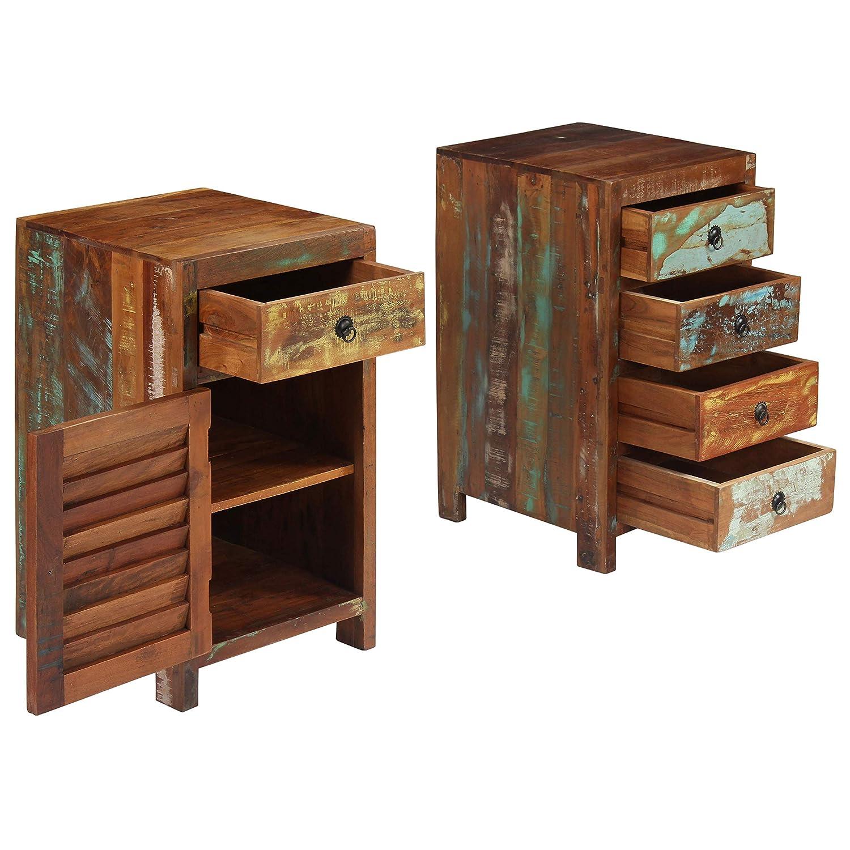 Vidaxl Schreibtisch Schreibtisch Schreibtisch Massives Altholz