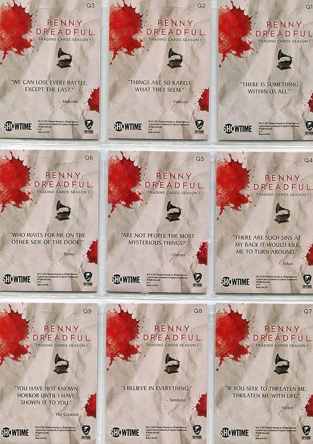 Verzamelkaarten, ruilkaarten Penny Dreadful Season 1 Quotable Chase Card Q9 The Creature