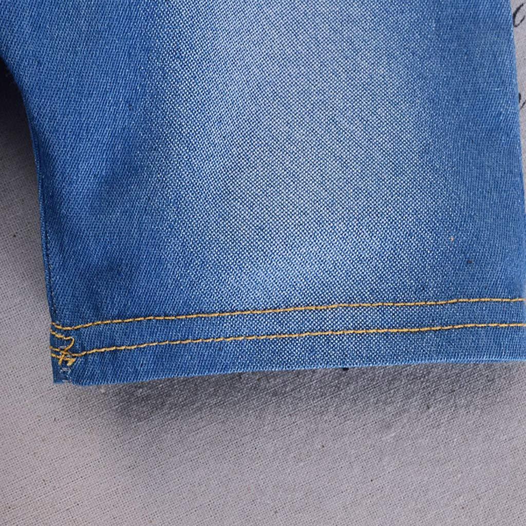 Fabal Infant Baby Boy Girl Gentleman Geometric Shirt Print Denim Shorts 2PC Set Outfits Summer