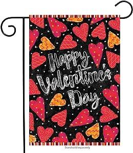 """Briarwood Lane Valentine Garden Flag Hearts Valentine's Day Love 12.5"""" x 18"""""""