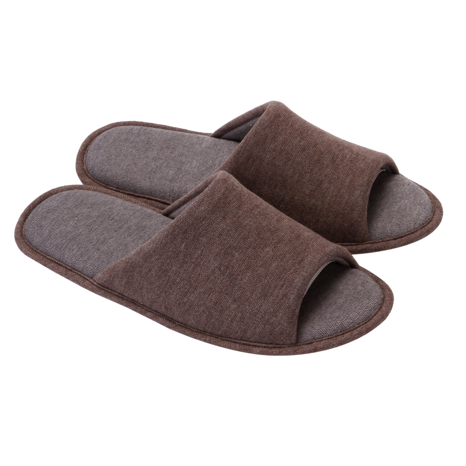 Holeco Cotton Flax Casual House Slippers Non-Slip Open Toe Sandals for Man