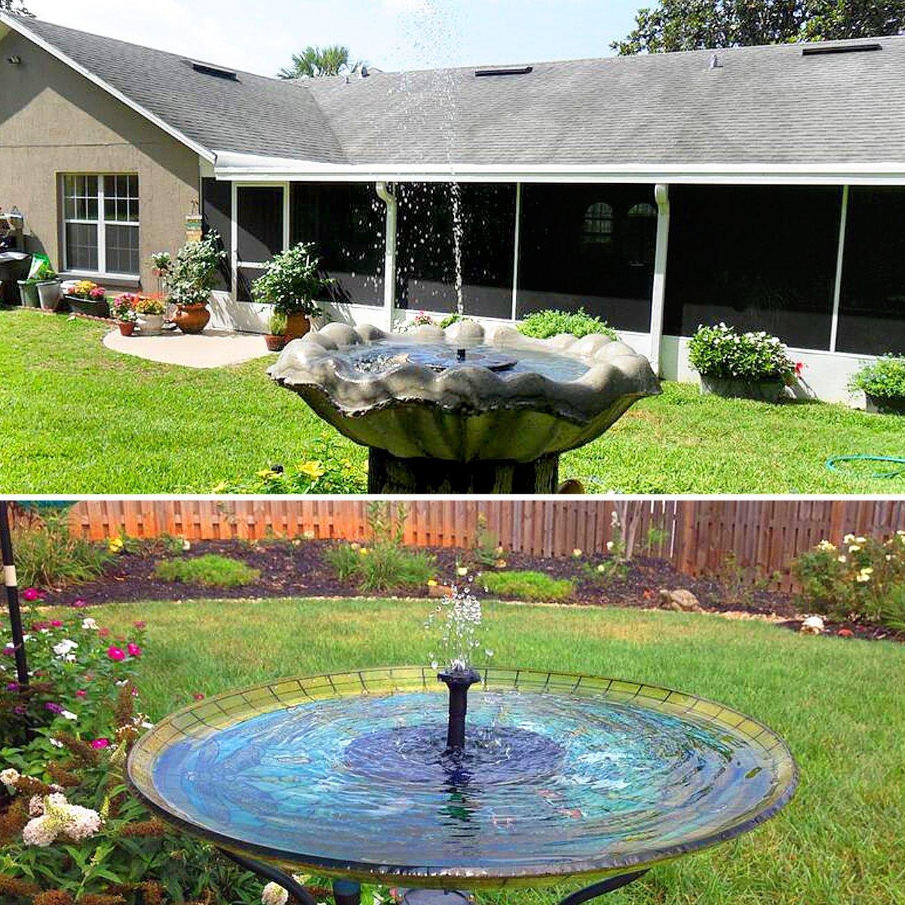 ... Solar de Silicio Monocristalino de 1.4W, Alta Eficiencia, 6 Boquillas para 8 Patrones de Agua-Ideal para Jardín Estanque Piscina: Amazon.es: Jardín