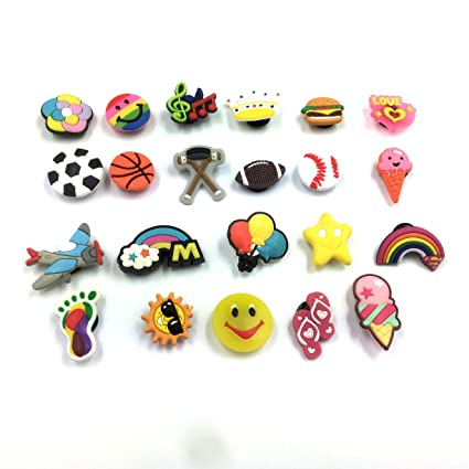 357a244f4d5dd Amazon.com  Efivs Arts 20+pcs Different Shape Shoes Charms Fits for Croc  Shoes   Wristband Bracelet Party Gifts  Toys   Games