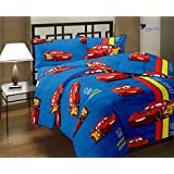 "Gemshop Beautiful Super Soft ""Car"" Printed Reversible Poly Cotton Single Bed Blue Color Ac Dohar/Ac Comfort/Blanket For Summer"