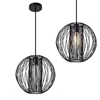 lux.pro] Design Hängeleuchte schwarz Metall (Höhe inkl Kabel 155,0 ...