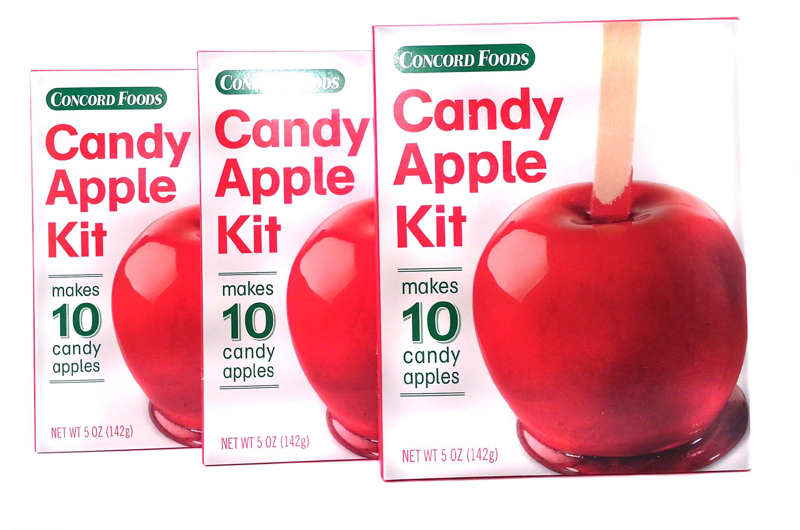 Amazon.com : Concord Candy Apple Kit (3 Pack Bundle - 30 ct ...
