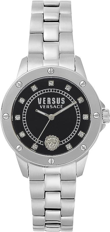 Versus versace orologio analogico classico quarzo donna con cinturino in acciaio inox s28020017