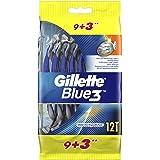 Gillette Blue3 Men's Disposable Razors, 9+3 count