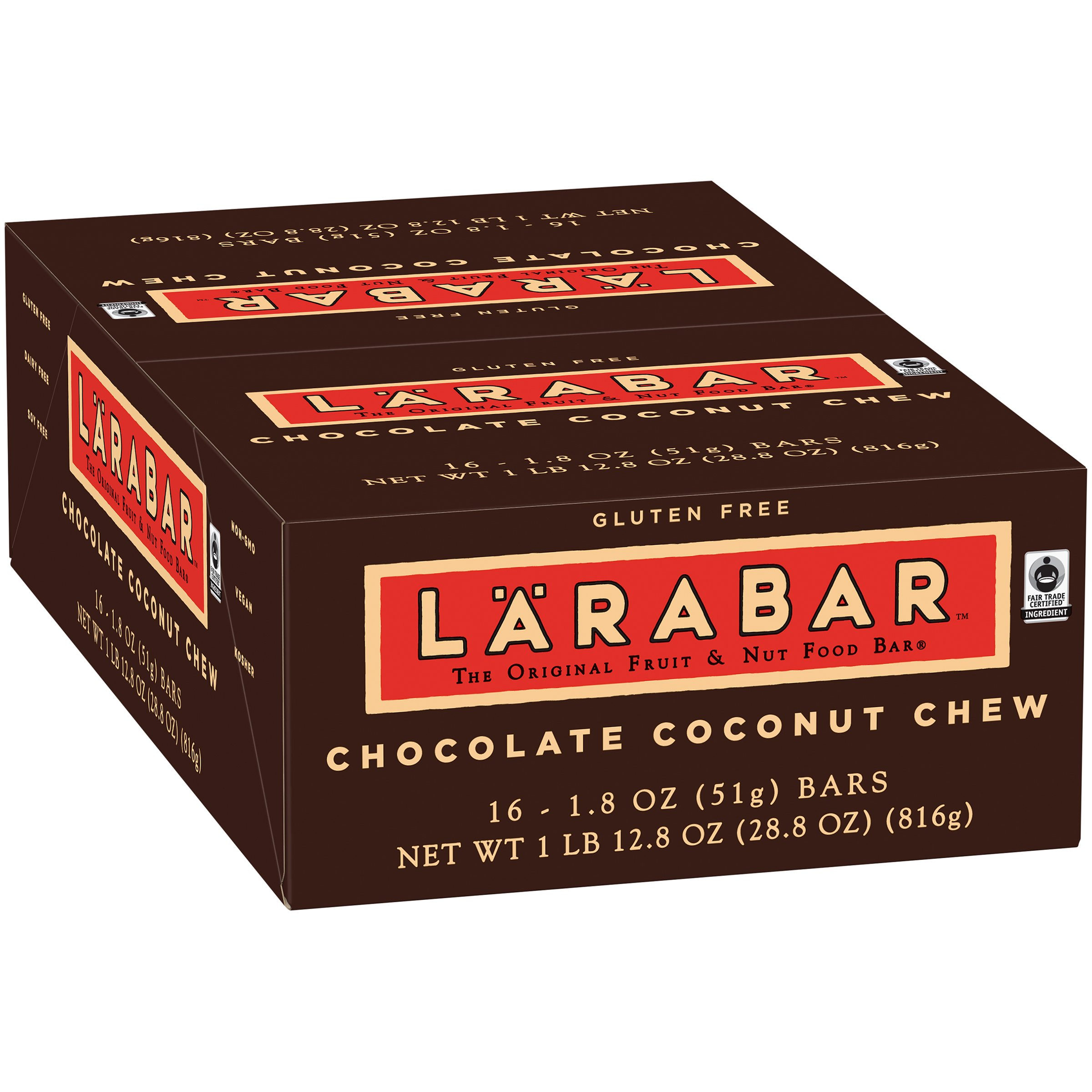 Larabar Gluten Free Bar, Chocolate Coconut Chew, 1.8 oz Bars (16 Count)