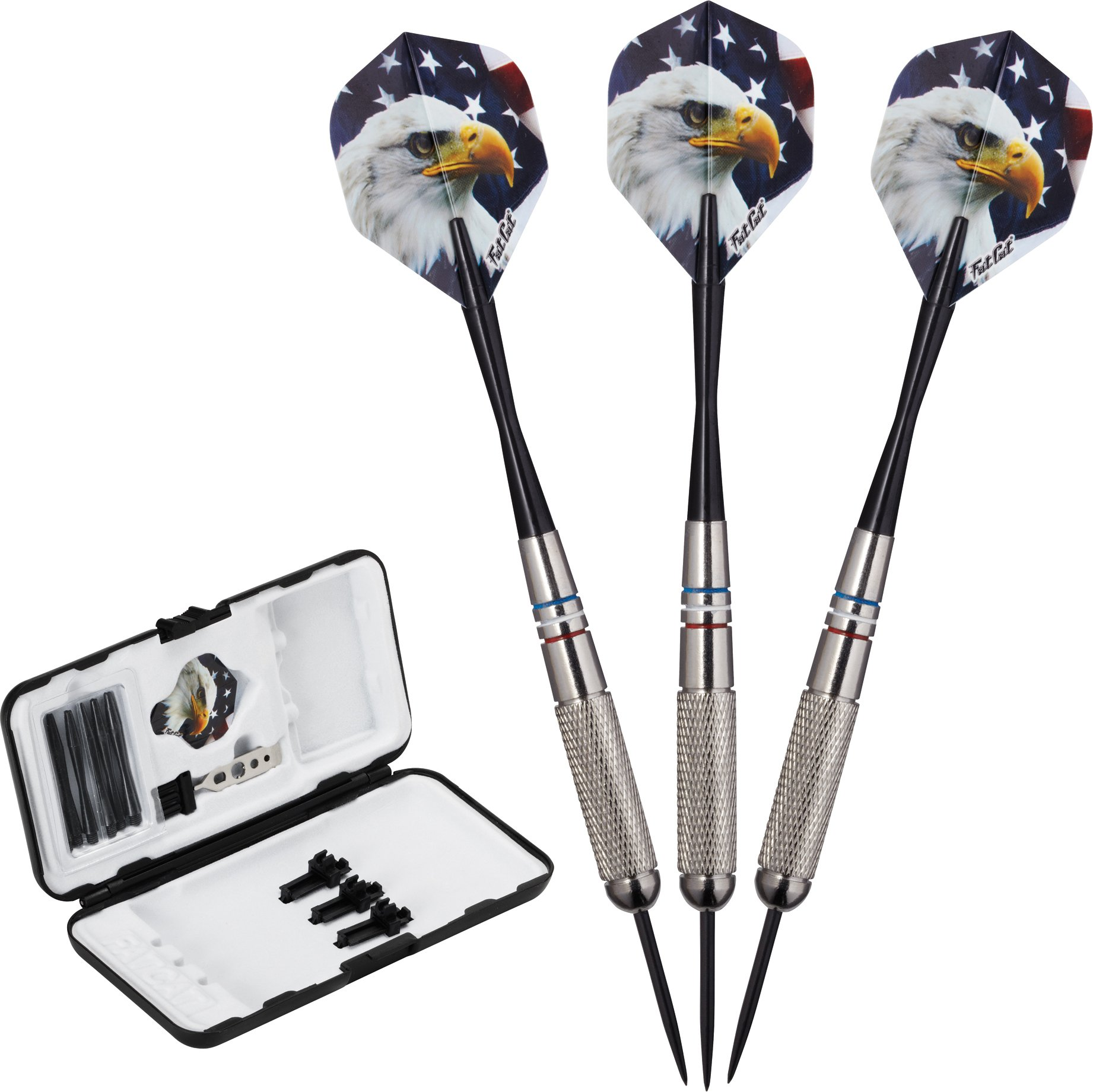 Fat Cat Support Our Troops Steel Tip Darts with Storage/Travel Case, 23 Grams by Fat Cat by GLD Products
