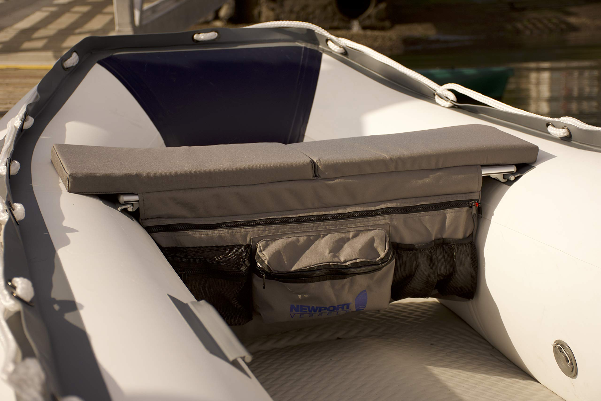 Newport Vessels Dinghy Inflatable Boat Seat Cushion & Underseat Storage Bag by Newport Vessels