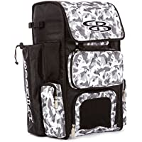 Boombah Superpack Bat Pack -Backpack Version (no Wheels) - Holds 2 Bats - Stealth Camo Series - 8 Color Options - for Baseball or Softball