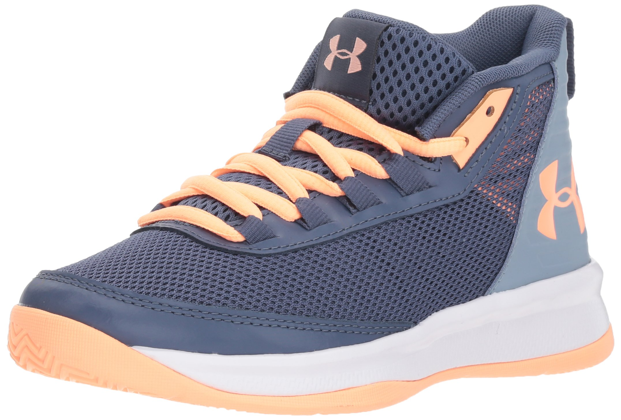 Under Armour Girls' Pre School Jet 2018 Basketball Shoe, Utility (500)/Washed Blue, 1