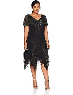 J Kara Women's Beaded Empire Waist Gown at