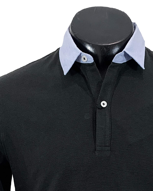 MASSIMO DUTTI 0745/202/401 - Polo de algodón para Hombre Azul M ...