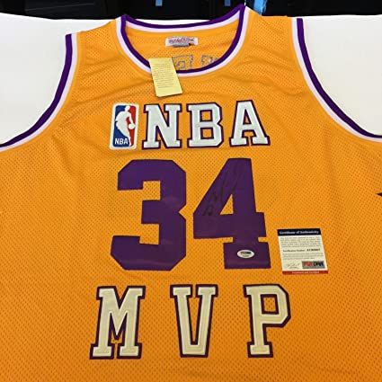 817e771d0 Shaquille O neal Signed Mitchell   Ness Los Angeles Lakers Jersey COA - PSA