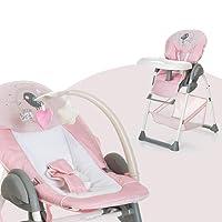 Hauck Sit'n Relax - Trona con bandeja y cesto, convertible en mecedora para bebé