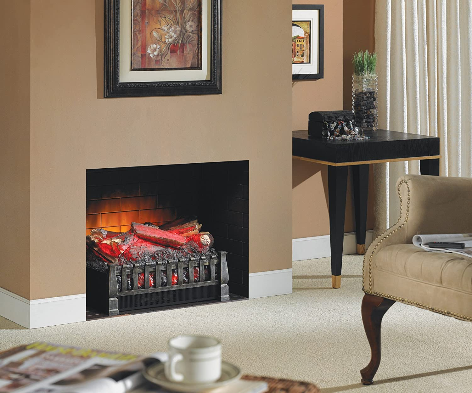 amazon com duraflame dfi021aru electric log set heater with