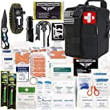 EVERLIT 250 Pieces Survival First Aid Kit IFAK Molle System Compatible Outdoor Gear Emergency Kits Trauma Bag for…