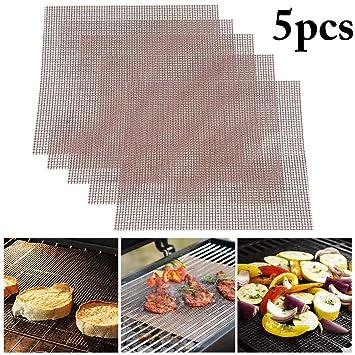 Fansport 5PCS BBQ Rejilla para Parrilla Antiadherente Malla ...