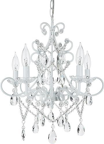 Amalfi Decor 5 Light LED Crystal Beaded Chandelier