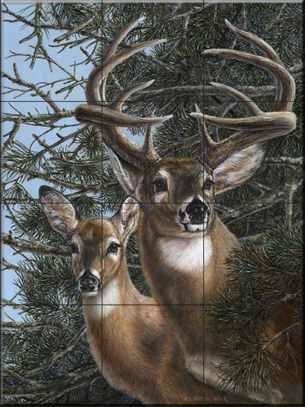 par Carolyn Mock Cuisine cr/édence//Salle de bains douche Fresque murale en carrelage bord de la Pines