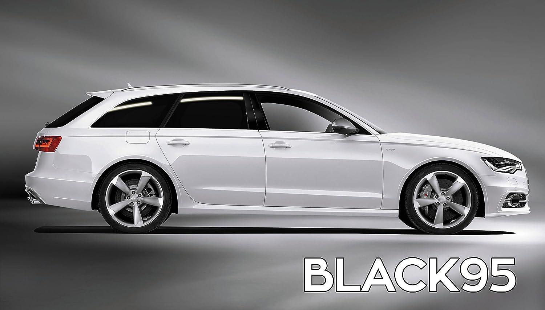 Passgenaue T/önungsfolie passend f/ür BMW 3-er Kombi Bj 2006-2012 Black 95