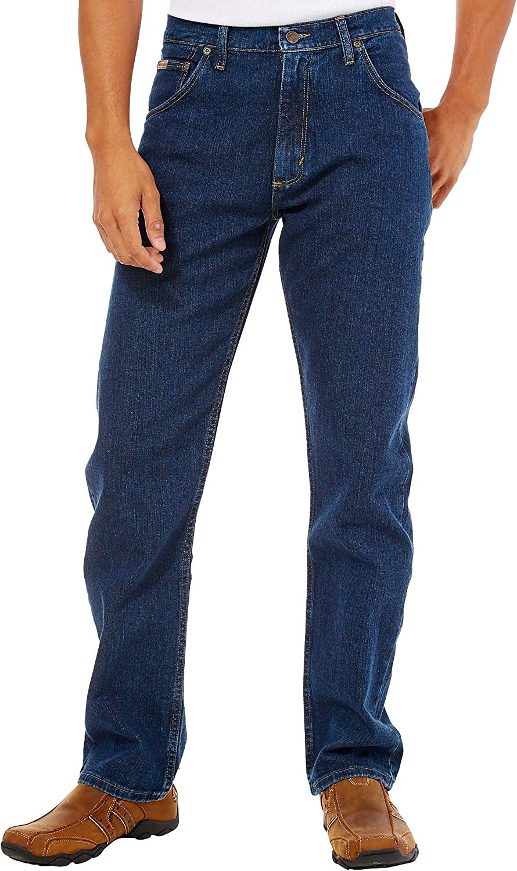 Nuevo AUTÉNTICO Original Genuino Wrangler Relaxed Fit Jeans Dark Stonewash 30-34