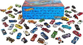 Oferta amazon: Hot Wheels Pack 50 Vehículos, coches de juguete (modelos surtidos) (Mattel V6697)