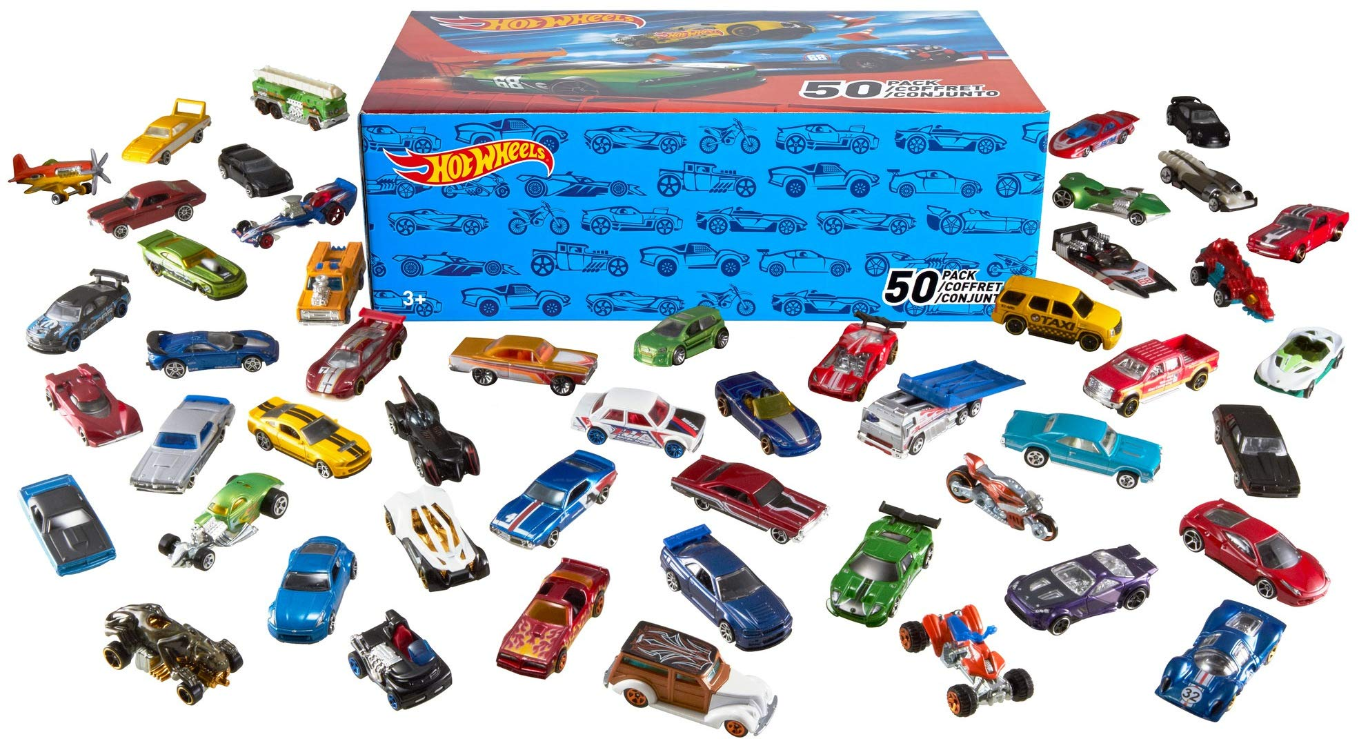 Hot Wheels V6697 50 Diecast Car Pack and Mini Toy Cars