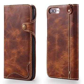 c30cc98fcf Amazon | iPhone7 Plus / iPhone8 Plus ケース 手帳型【高級本革(牛革 ...