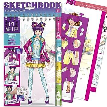 Style Me Up Libro Para Colorear Con Plantillas Y Pegatinas