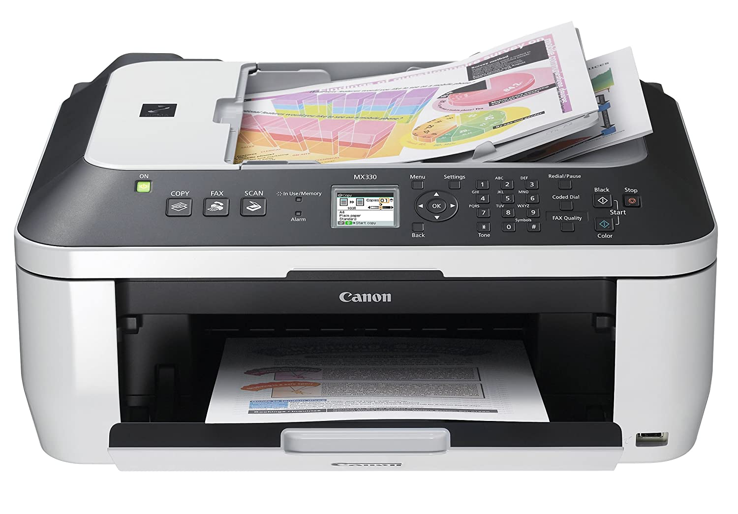 Amazon.com : Canon PIXMA MX330 Inkjet All-In-One Printer : Multifunction  Office Machines : Electronics