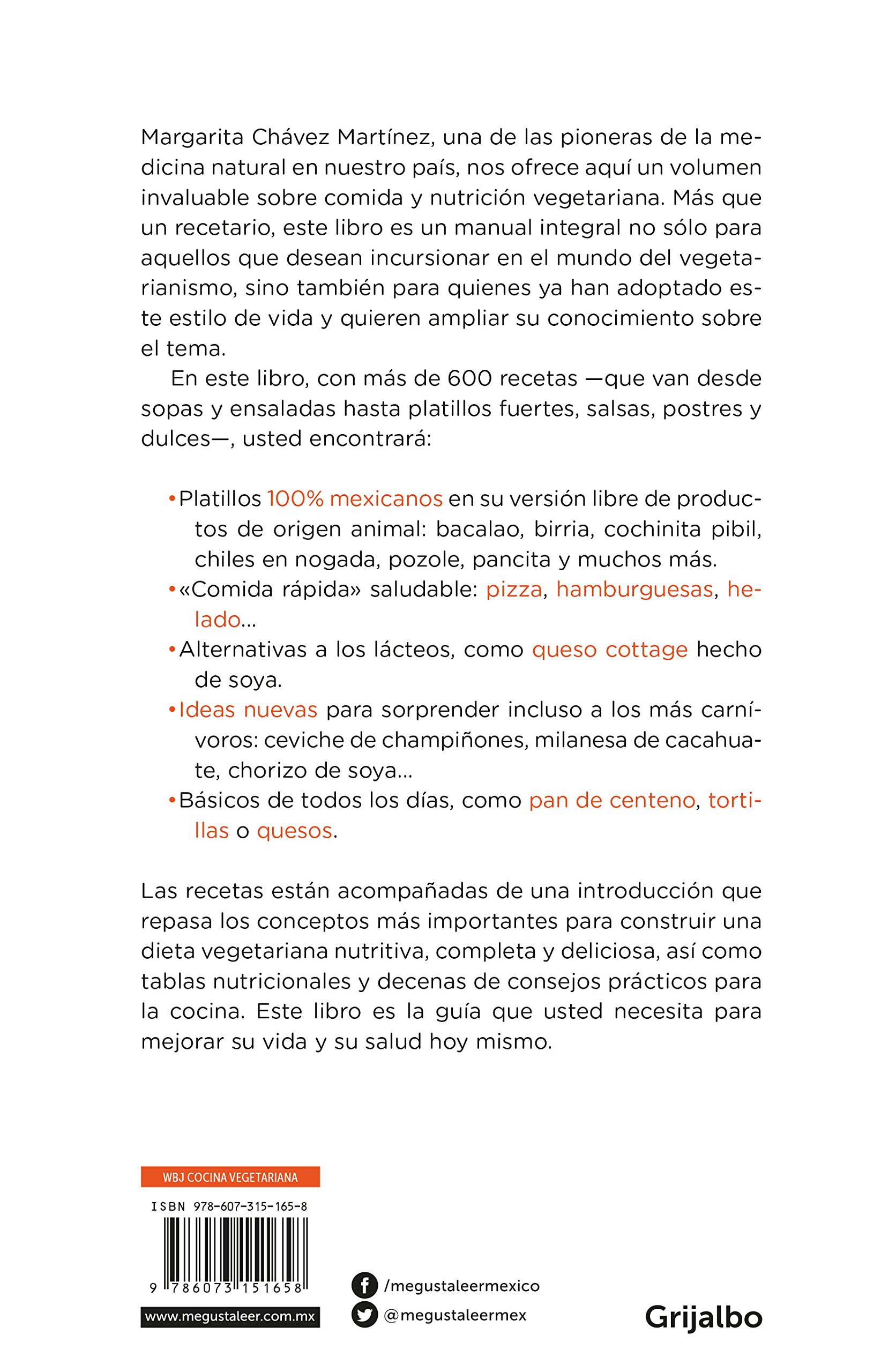 Nutrición vegetariana / Vegetarian Meals (Spanish Edition): Margarita Chavez Martinez: 9786073151658: Amazon.com: Books