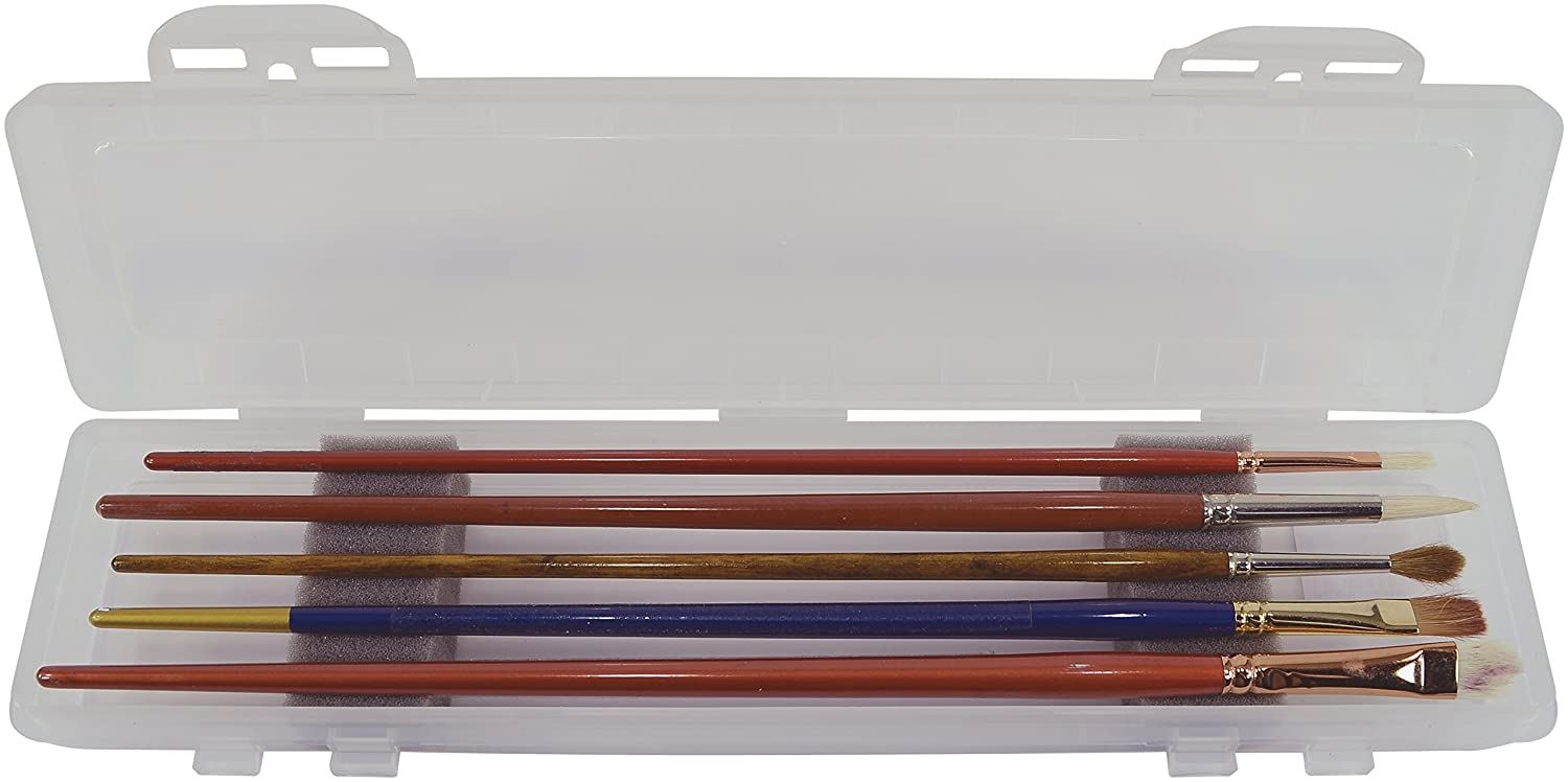 Pro Art Clear Brush Box with Foam Insert, 12.5 by 3-Inch C2F Inc PRO-BR105
