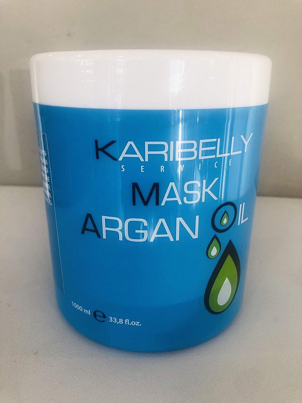 Karibelly Mascarilla para el Pelo de Argan con Omega 3 - 1000 ml